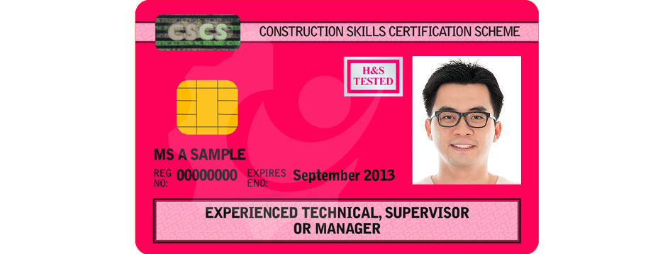 Red Experienced Technical, Supervisor or Manager CSCS Card