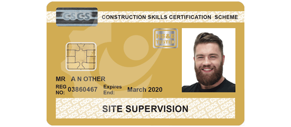 Gold CSCS Supervisors Card