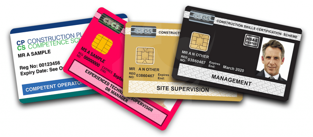 CSCS Black, CSCS Gold, CPCS Blue Cards